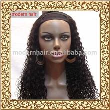 2014 hot sale 100 virgin brazilian kinky cuely U part wig for black woman
