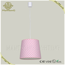 hot sale modern style fabric and plastic pendant light for living room