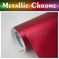 Teckwrap fosco metálica cromada envoltório carro vinil, Estilo Hot Red Chrome vinil envoltório