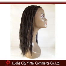 New product fashional fully micro braid wig,synthetic lace front box braid wig,braided wigs for black women