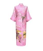 manufacture japanese style silk kimono robe for wholesale