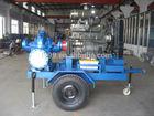 Diesel trailer centrifugal water pump