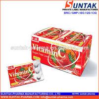 Private Label 9.6g Strawberry Flavor Sour Vitamin C Mint Candy