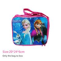 (FZB3200-PRINT A#) Frozen Lunch bag Elsa Anna shoulder bag picnic bag