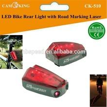 Laser LED Bicycle Rear Light led Bike Back Light with road marking laser