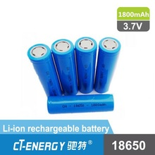Bright torch light rechargeable battery 18650 li-ion 1800mah