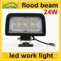 12V/24V auto tuning light led light work light for trucks offroad 24W flood beam