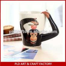 3D Hand-Painted Ceramic Animal Swimming Mug -Monkey