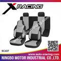 Sc437 x- racing 8 pcs couro do assento de carro cobre