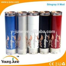 Vape mod watchciging e-cigarette 18650/18350/18500/ Stainless steel&brass stingray x 18650 vape pens