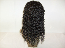 100% Jerry Curl human hair lace front wig