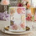 nova chegada do jardim estilo rose cartão convite de casamento projeto freeimpressão cw065
