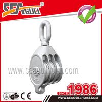 triple pulley snatch block,double sheave pulley block