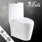 bathroom ceramics double hole eddy one-piece toilet