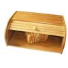 bamboo bread box, wooden bread storage bin wholesale