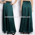 2015 recién llegado de verde para mujer de la falda ropa islámica