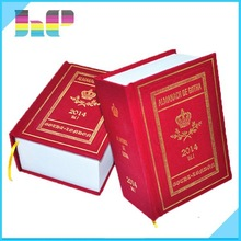 Leather cover dictionary book printing, cloth cover book printing with hot stamping