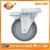 5 Inch Grey Total Brake PU Caster Wheel