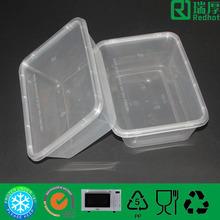 Transparent plastic food storage tray 650ml