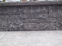 blue limestone stone wall panel