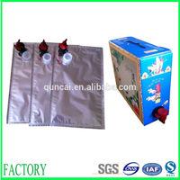 Hotsale popular 3L 5L 10L wine packaging bag in box