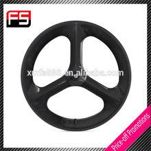 Carbon Wheels 2015 Popular Cheap High Quality,Full Carbon Fibre Rim Straight Tri spokes, China 3 Sproke Carbon Wheel Clincher