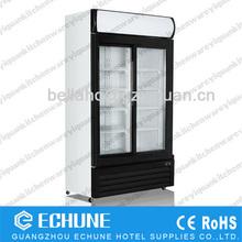 800L Supermarket commercial vertical bottle display cooler beverage showcase