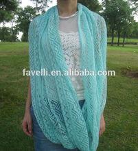 Infinity Mint Lace Knit Scarf