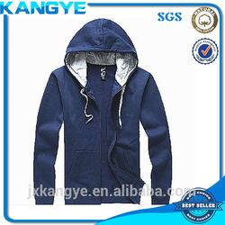 men's zipper-up custom hoodies with fleece made in jiangxi nanchang