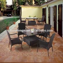 wholesale modern rattan wicker outdoor dining garden set furniture(N111-BBJ)