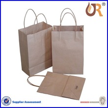 Custom paper brown shopping bag with handle &flat bottom/shopping bag