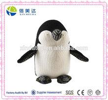 Custom plush penguin appropriate for children