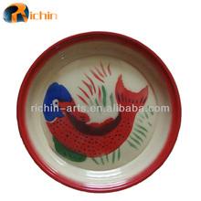 Wholesale factory price enamel steel round plates