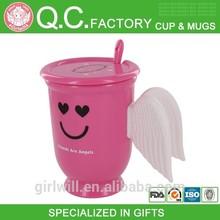 Funny Angel Wing plastic coffee mug