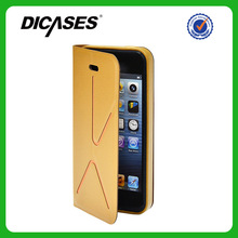 Flip PC+PU bulk cell phone case for Iphone 5s