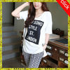 T shirt wholesale China hot sale print lady t shirt with two colors, fashion woman t shirt design