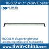 long lifespan single row led light bar 240w for vehicles ATV SUV car kit electric bike headlights bulb