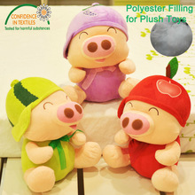 Top quality white recycled polyester fiber 100% polyester filling for plush toy