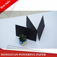 120gsm both side coated recycled black label paper board