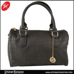 Black Large Snake PU Fashion handbag