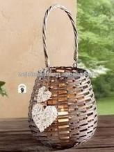 Handmade and Practical Garden Basket Wicker Garden Tools Basket