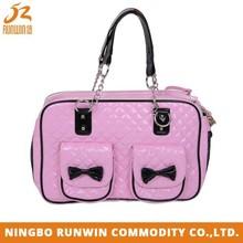 Eco-Friendly Pink PU Cat Pet Carrier , Pet Carrier Bag , Dog Carrier