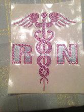 Nurse Rhinestone Crystal Decal Animated car sticker decals,window car sticker