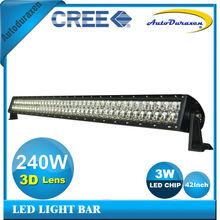42Inch 240W 12/24V 3D Lens/3D Optics Combo High Intensity LED Car Tuning Light Bar DU-3D240W