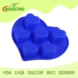 Heart shape silicone cake mould