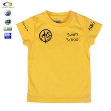 mesh polyester printing o-neck children t shirt