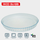 27CM/30CM round oven and microwave safe borosilicate glass baking pizza pan