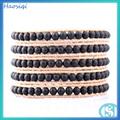 venta caliente brazalete de ágata negro joyas tibetano al por mayor