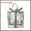 de alta calidad de alambre de metal caja de regalo