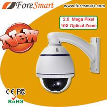 4 inch 10x optical zoom 2.0 Mega Pixel CMOS Mini PTZ IP High Focus CCTV Camera